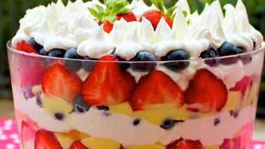 Simple Berry and Vanilla Cream Trifle