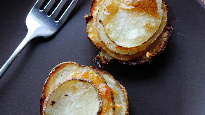 Muffin Tin Cheesy Potato Gratins