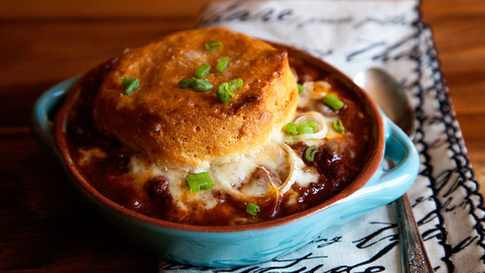 Weeknight Chili Biscuit Bake