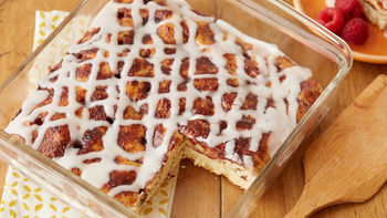Raspberry Cinnamon Roll Poke Cake