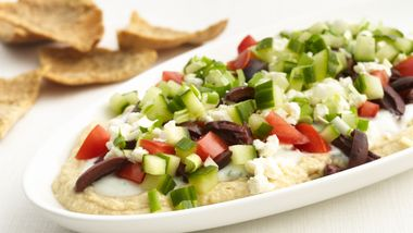 Skinny Greek Layered Dip