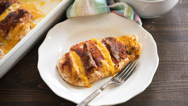 Barbecue-Cheddar Hasselback Chicken