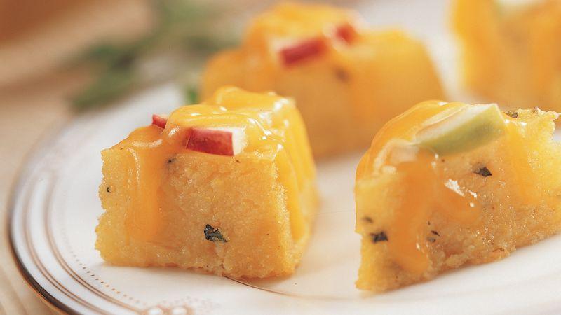 Cheesy Apple Polenta Bites