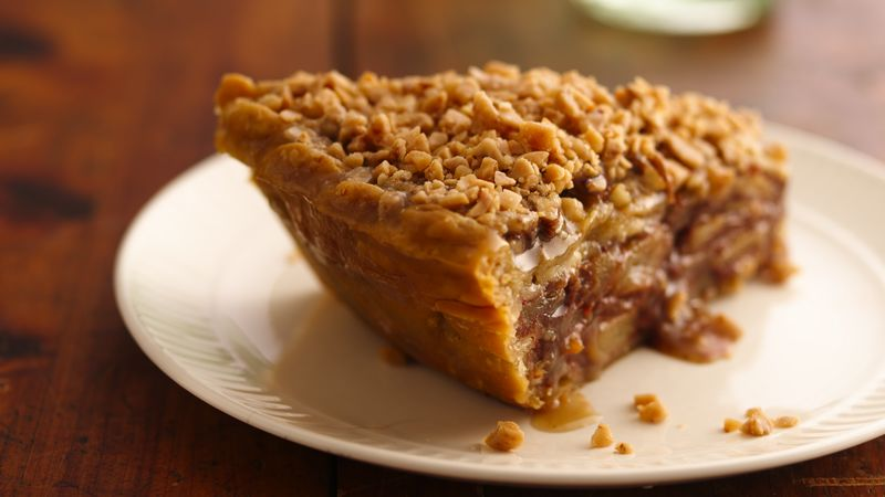 Apple-Pear Praline Pie recipe from Betty Crocker