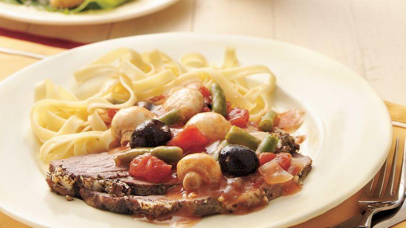 Slow-Cooker Italian Rump Roast
