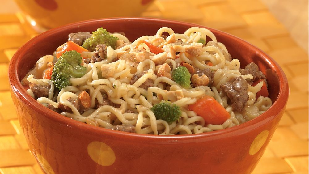 Easy Teriyaki Beef and Noodle Bowls
