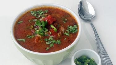 Sopa de Tomate y Arroz