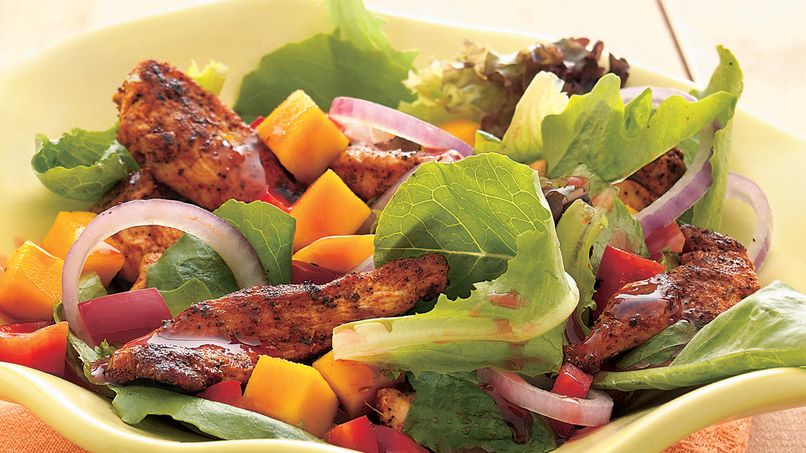 Ensalada de pollo tropical