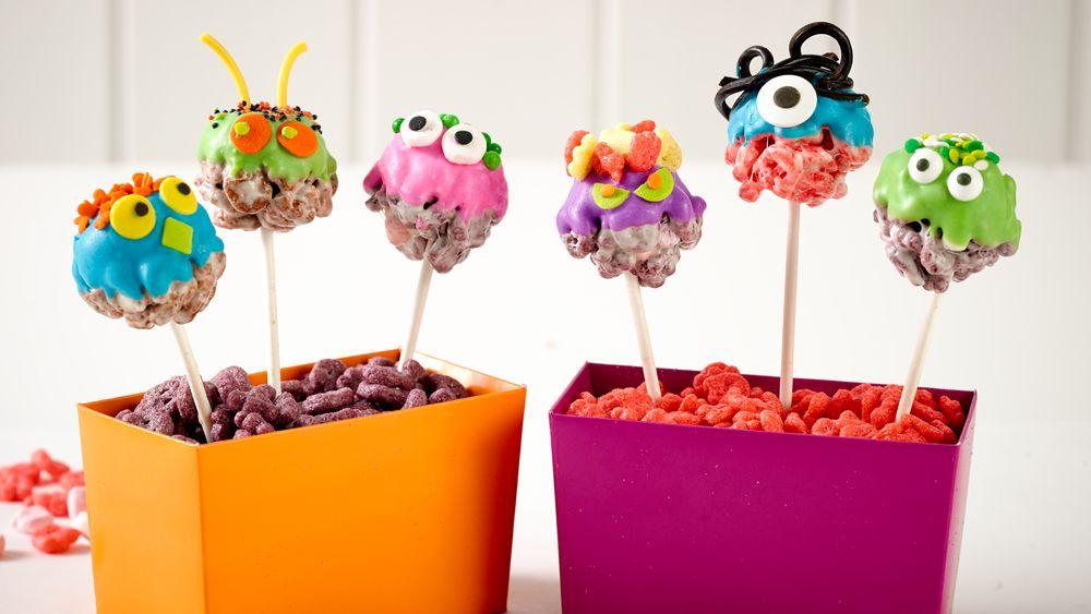Monster Cereal Marshmallow Treat Pops