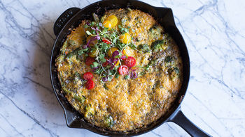 Easy Vegetable Frittata Skillet
