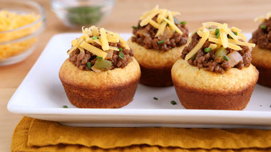 Sloppy Joe Cornbread Cups