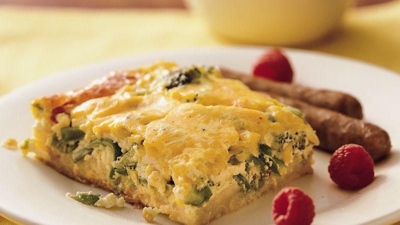 Vegetable-Cheese Strata