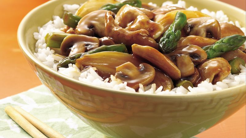 Chicken, Mushroom and Asparagus Stir-Fry