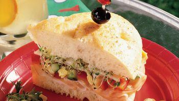 Turkey-Artichoke Focaccia Sandwich