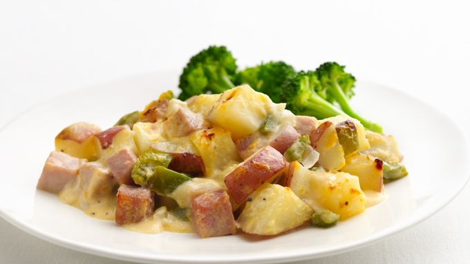 Skinny Ham and Potato Casserole