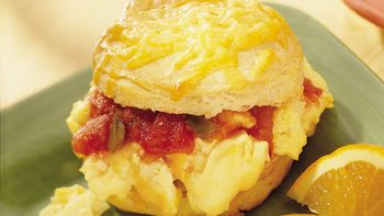 Cheesy Egg Biscuits