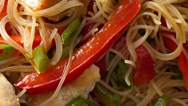 Singapore Noodles with Chicken