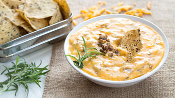 Cheesy Sausage and Rosemary Breakfast Dip