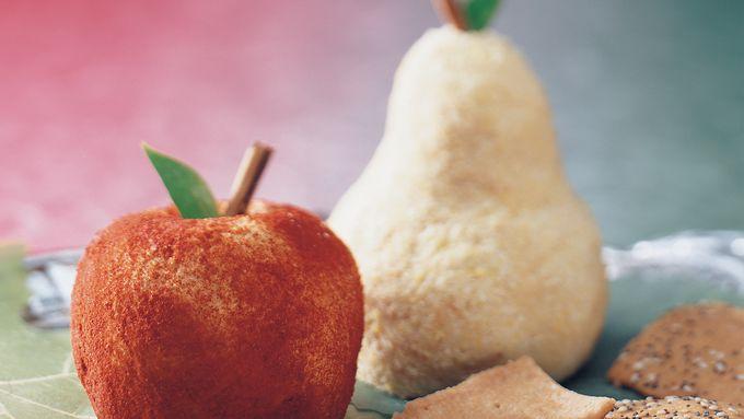 Fruit-Shaped Cheese Balls