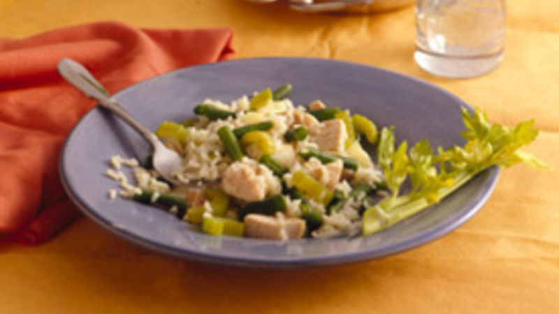 Chicken and Green Beans with Rice
