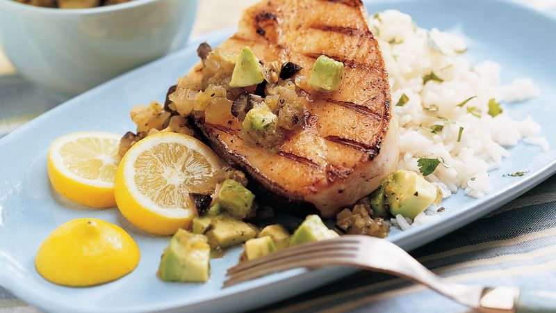 Grilled Halibut with Green Sauce recipe - from Tablespoon!