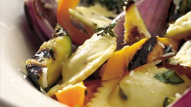 Grilled Vegetables and Ravioli