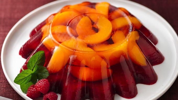 Peach Melba Molded Salad