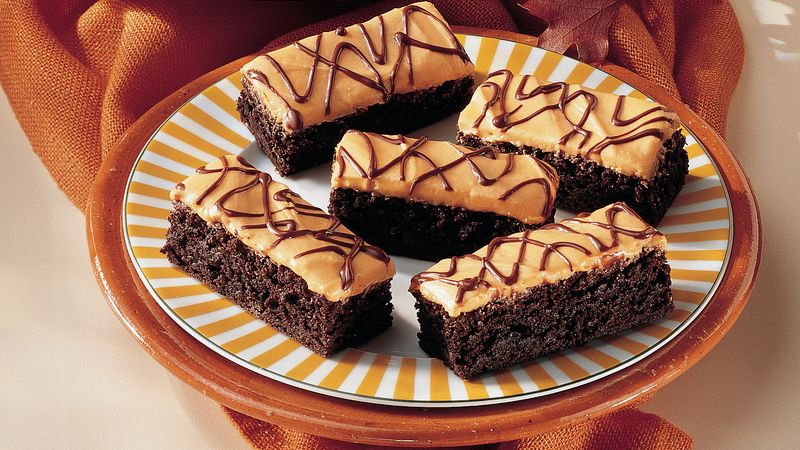 Orange-Cream Cheese Brownies