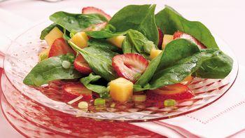 Strawberry-Melon-Spinach Salad
