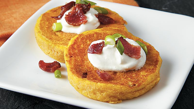 Bacon Pumpkin Griddle Cakes