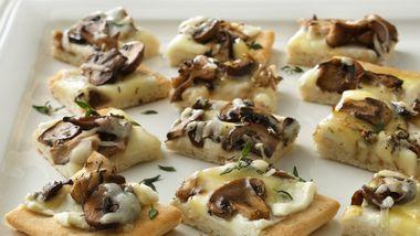 Wild Mushroom Appetizer Pizza