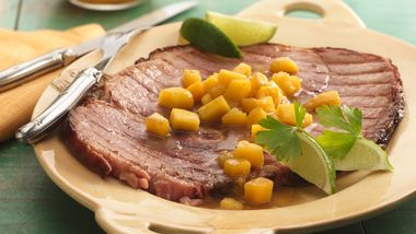 Grilled Mango Ham Steak