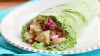 Chicken and Peanut Butter Lettuce Wraps