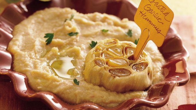 Roasted-Garlic White Bean Hummus
