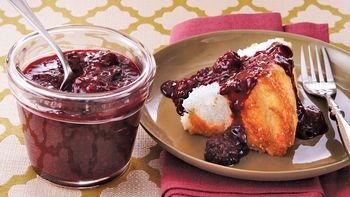 Slow-Cooker Angel Food Cake with Berry Compote