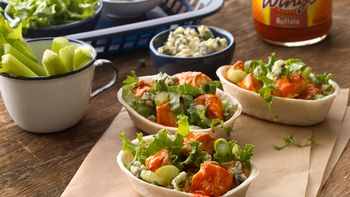 Buffalo Chicken Mini Taco Boats™