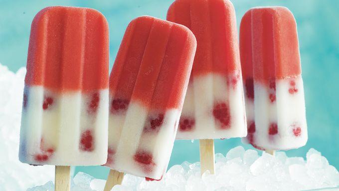 Raspberry Lemonade Pops