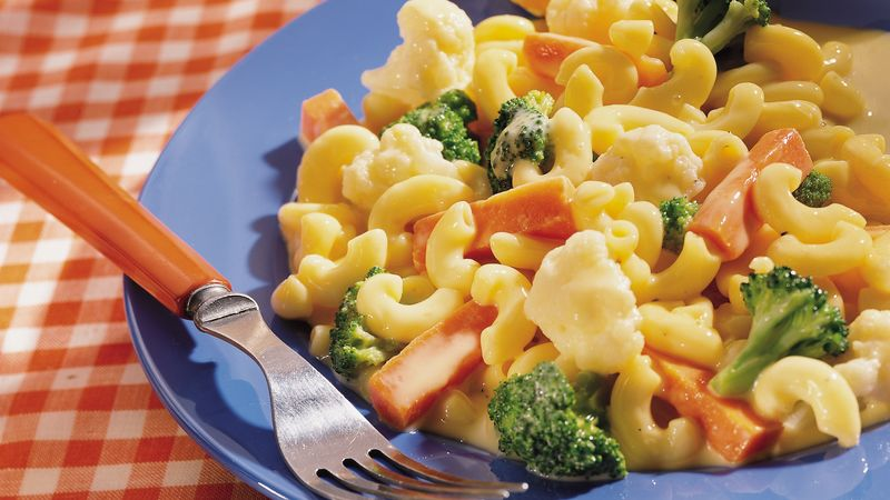 Creamy Vegetable Macaroni and Cheese