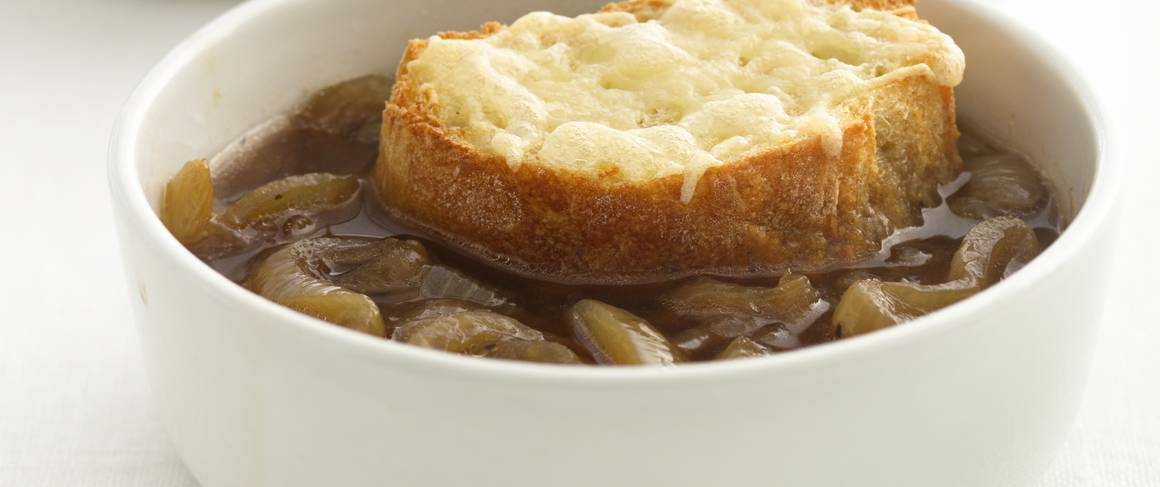 Skinny French Onion Soup recipe from Betty Crocker