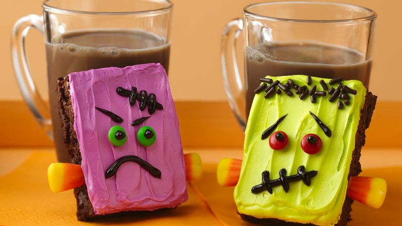 Frankenstein Brownies