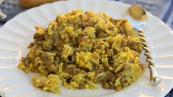 Slow-Cooker Curried Rice and Lentils