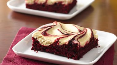 Red Velvet Espresso and Cream Swirled Brownies