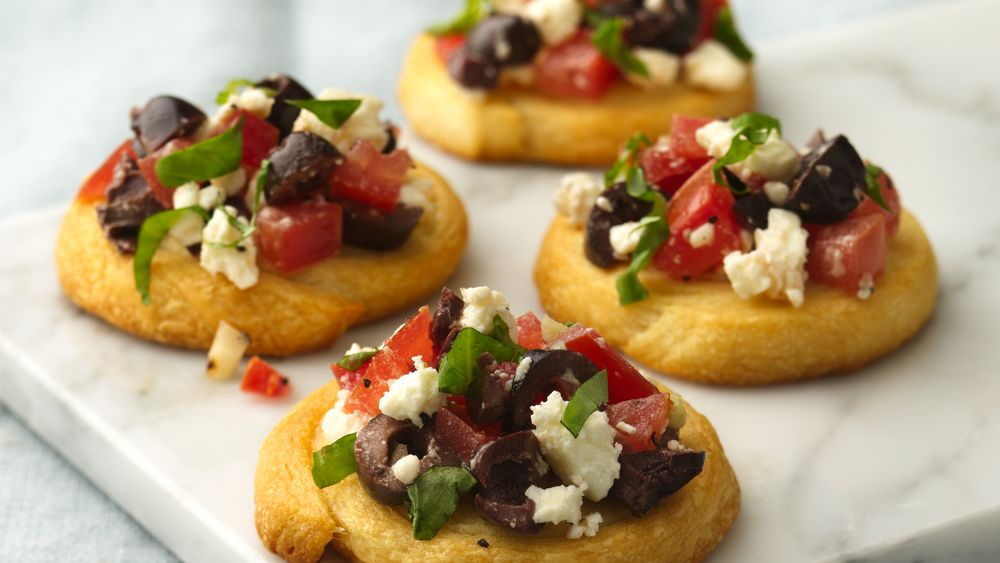 Feta and Tomato Crostini