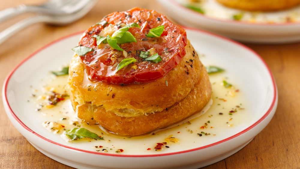 Upside Down Tomato Basil and Chicken Tartlets