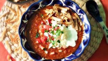 Sopa Azteca Fácil