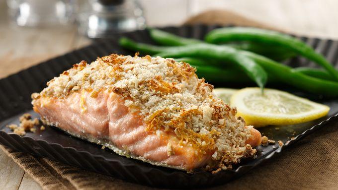 Granola Crusted Salmon