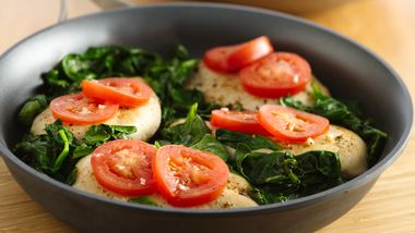 Easy Chicken with Tomatoes and Spinach