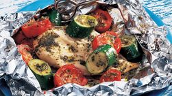 Grilled Pesto Chicken Packs