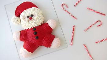 Roly Poly Santa Cake
