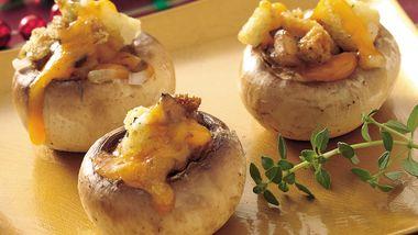Cheddar-Stuffed Mushrooms